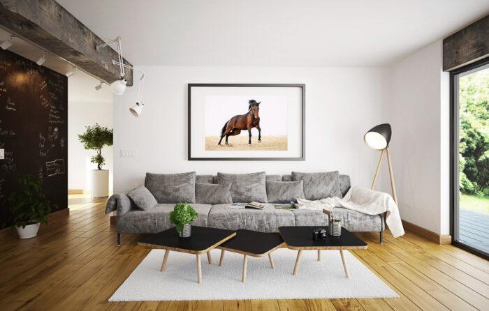 Hästtavla i vardagsrum